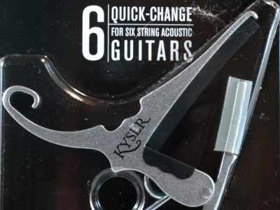 Capo for Acoustic or Electric Guitar-Quick-Change - Kyser - Black or Silver