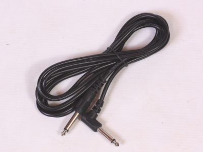 Guitar lead cable, 3m/10' length, right angle/straight plugs