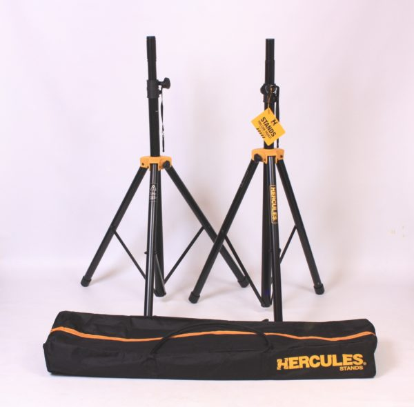 Speaker Stands (pair) Hercules SS200BB - Stage Series with Hercules carrying bag.