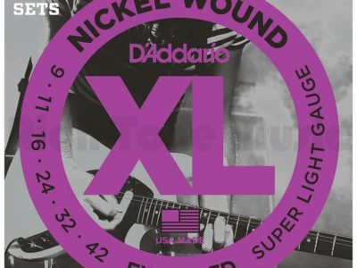 Electric Guitar Strings D'Addario EXL120-3D 3-Pack 9-42