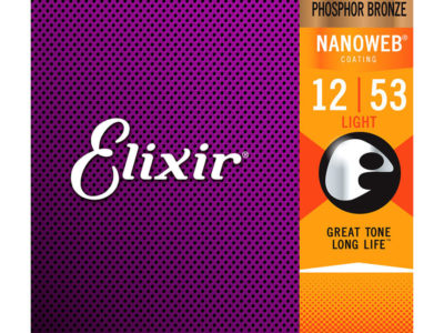 Acoustic Guitar Strings Elixir Nanoweb 12-53 Phosphor Bronze 16052