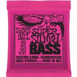 Bass Guitar Strings Ernie Ball Super Slinky Custom Gauge 45-100 Set 2834