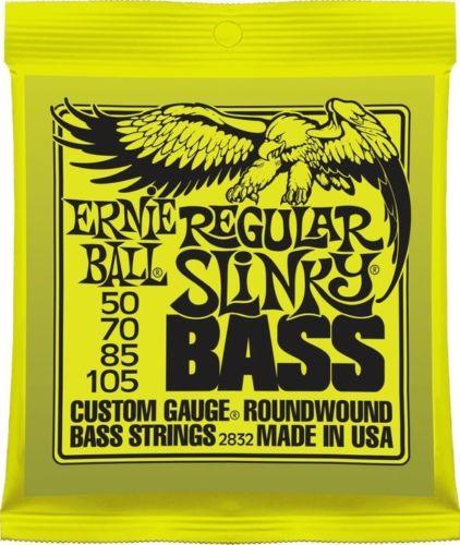 Bass Guitar strings, Ernie Ball Regular Slinky 50-105 set 2832