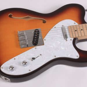 Electric Guitar, Tele Thinline style F-hole sound chamber Vintage Sunburst P&P!