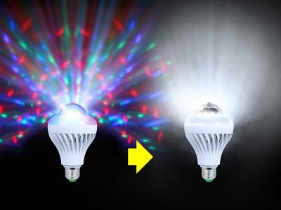 Party light, Moonbulb Duo projector lamp, fits any socket KAM